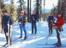Nordic Wrecks skiers